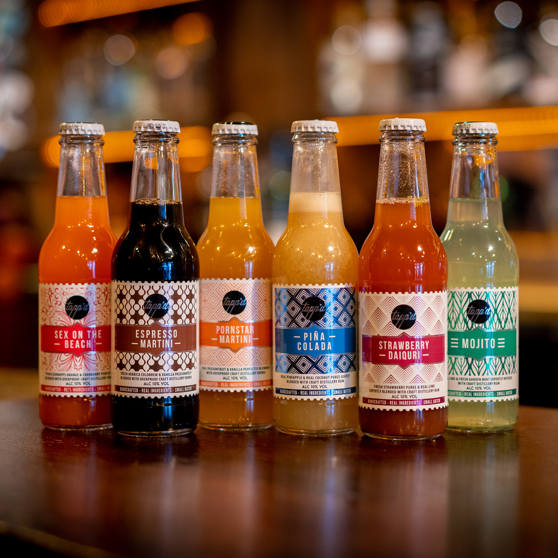 Mixed Pack of 6 Ready to Drink Bottled Cocktails Image